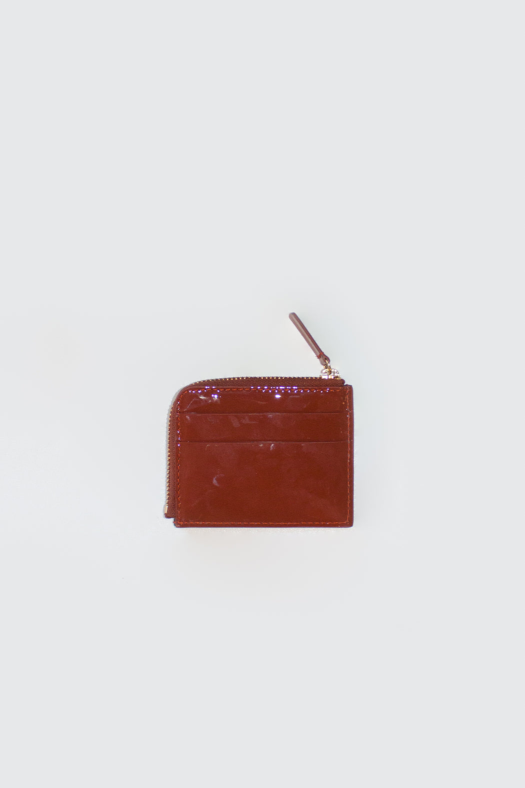The Stowe Leather Goods | Card Wallet Tomato Patent Leather