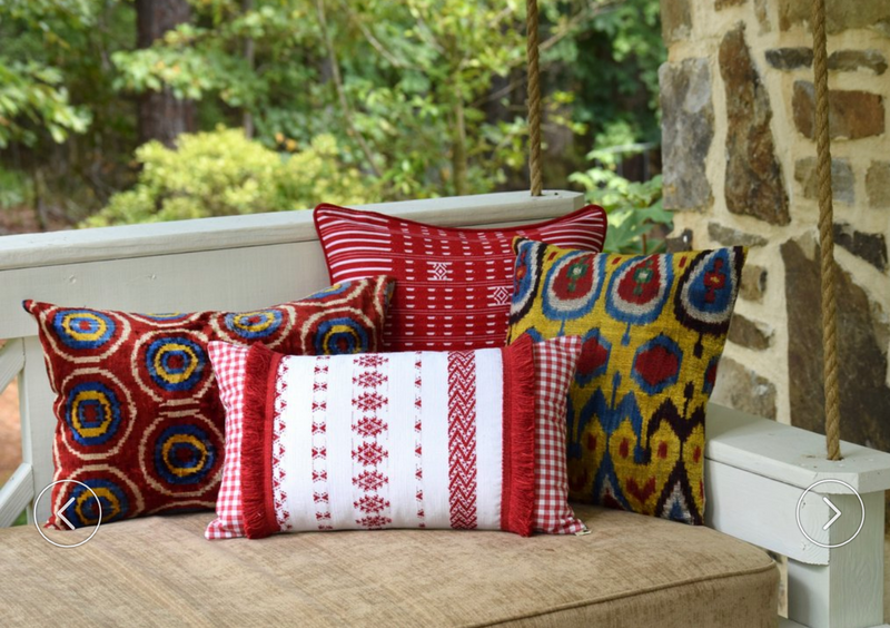 Feliciano Guatemalan Pillow - Red and Black