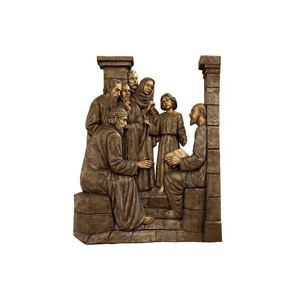Life of Christ Relief - Jesus is Found in Temple - Global Bronze