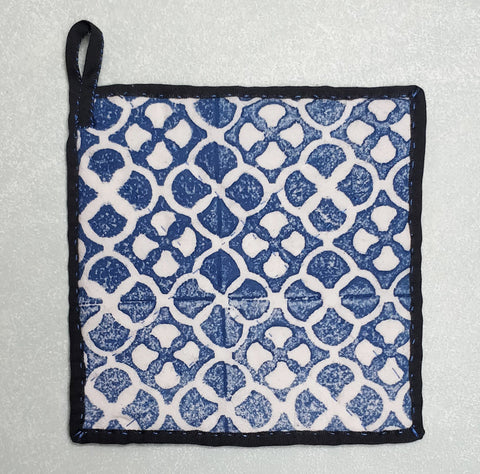Hand block printed pot holder