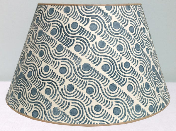 "16"" Grey Madras spot lampshade"