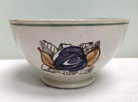Early and rare spongeware bowl