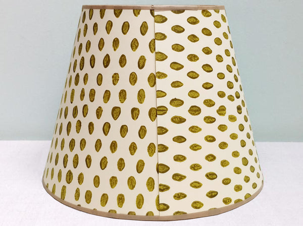 "10"" Open seed deep acid green lampshade"