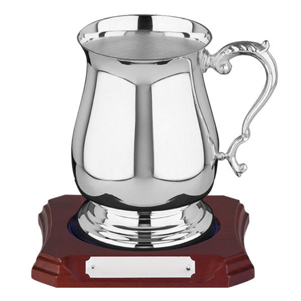 698 Silver Plated Georgian Tankard - Bracknell Engraving & Trophy Services