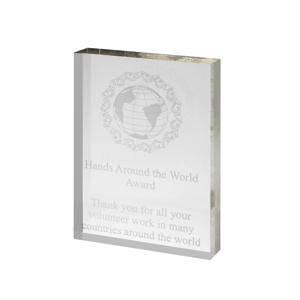Freestanding Clear Acrylic Award