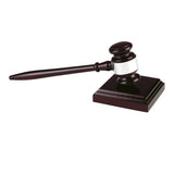 "10.75"" Wooden Gavel and Block - Bracknell Engraving & Trophy Services"