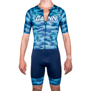 CAMO BLUE PRO ELITE SLEEVED TRI SUIT
