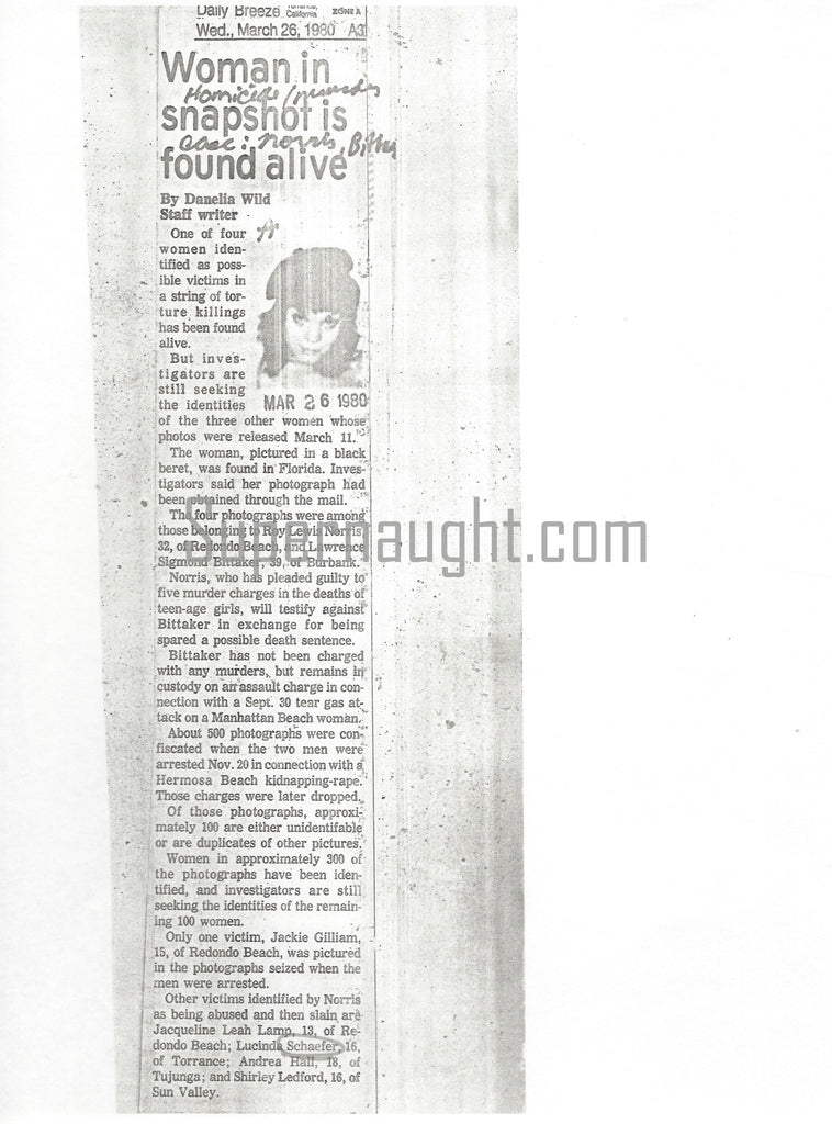 Lawrence Bittaker case related article
