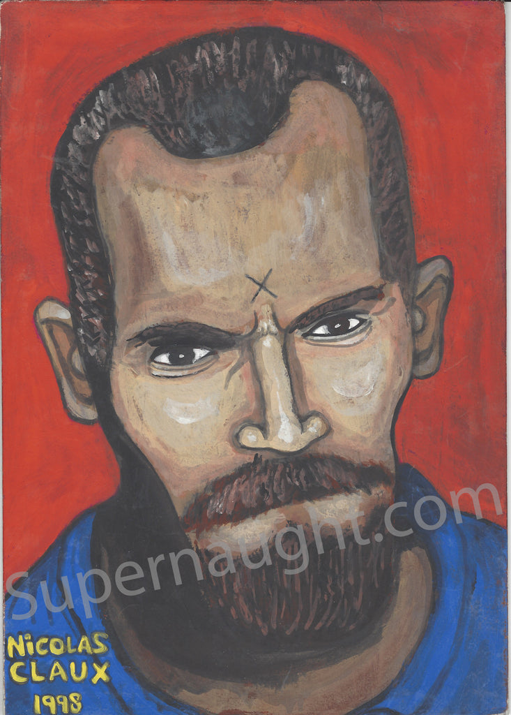 Nicolas Claux Charles Manson Artwork Signed