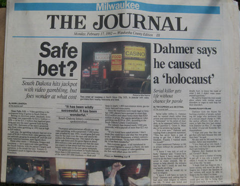 Jeffrey Dahmer 1992 Milwaukee Journal