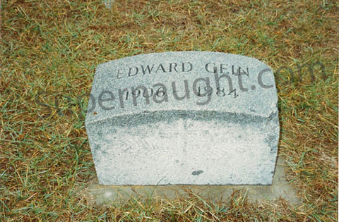 Ed Gein Grave Dirt and Headstone Photo