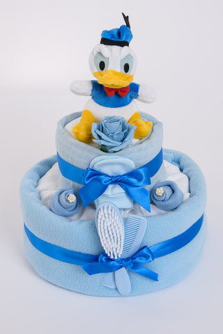 Donald Duck Nappy Cake