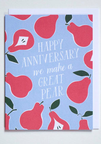 Happy Anniversary Pear Card