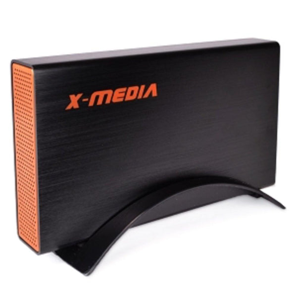 3.5 X-Media XM-EN3251U3-BK SuperSpeed USB 3.0 External SATA HDD Aluminum Enclosure (Black) - Supports up to 3TB!