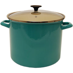 STARFRIT 030085-001-0000 11.6-Quart Enamel Carbon Steel Stock Pot with Lid