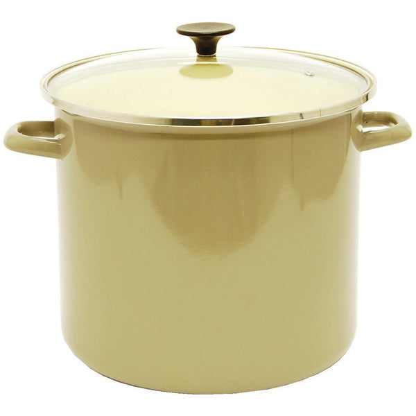 STARFRIT 030086-001-0000 16-Quart Enamel Carbon Steel Stock Pot with Lid
