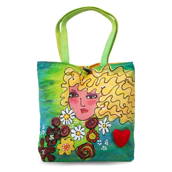 New Trendy Bright Faces Blond Large Stylish Colorful Fashion Tote Bag for Women
