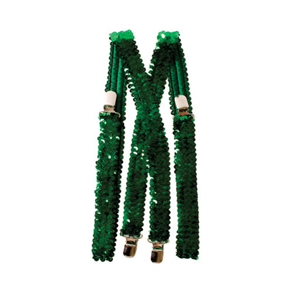 Dress Up America Halloween 2016 Costume Green Sequined Suspenders