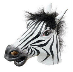 Halloween Realistic Horse Head Interesting Funny Party Masquerade Silicone Face Zebra Mask