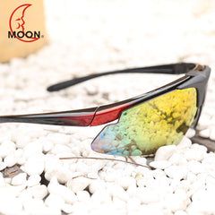 MOON Cycling Eyewear  Cycling Glasses Goggles Cycling Sunglasses Men Women Unisex Bicycle Glasses UV400 Ciclismo 3 Colors