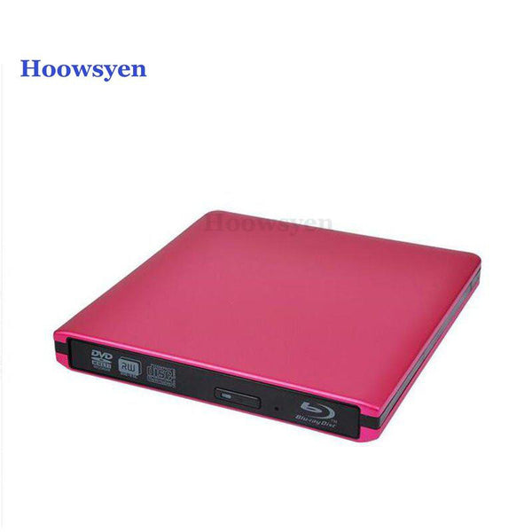 USB3.0 Bluray drive External DVD Optical Drive read blu-ray disc 3D and write normal CD DVD aluminium support windows10 and Mac