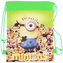 Hot Sale Minion Cute Cartoon Drawstring School Bags/Backpacks for Girls & Boys