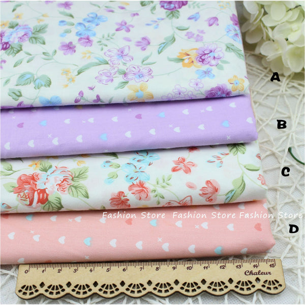 Flower Printed Fabric cushion Cloth fabric bedding Sheet Cotton Fabric Sewing For patchwork FARBIC Cloth 40 *50 cm