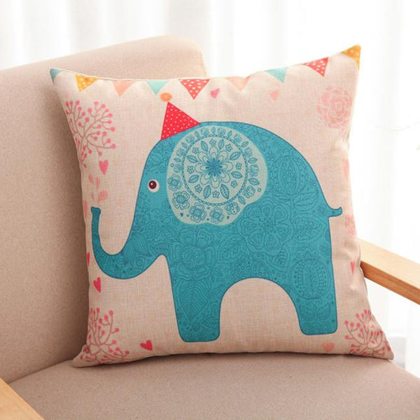 Lovely Elephant Throw Pillow Case Home Decorative Cushion Pillow Cover