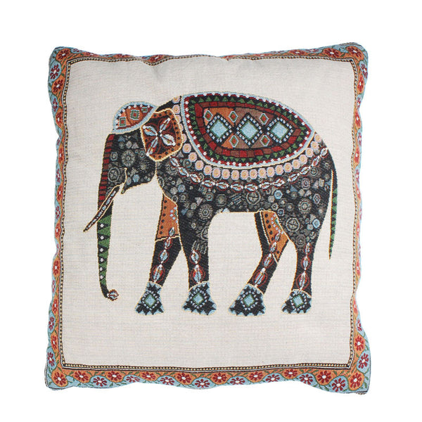Home Car Bed Sofa Vintage Decorative Elephant Pillow Case Cushion Cover
