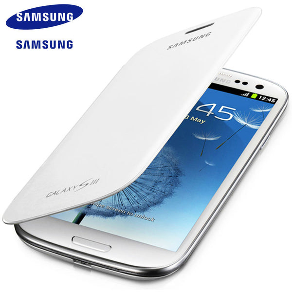 Samsung Galaxy S3 i9300 case Cover Ultra Thin PU Silicone Cell Phone Cases For s3 SIII Protective case flip cover 100% Original