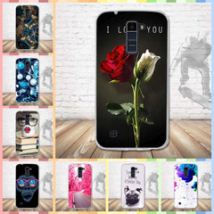 Luxury Case For LG K10 Cover Soft Silicone Case Capa For LG K10 Lte K430DS K410 M2 Cell Phone Cartoon Painting back Cover