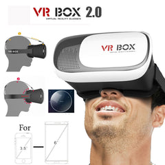 New Arrival VR Box 2.0 Google Cardboard 3D Glasses Virtual Reality vr Headset Oculus Rift + Bluetooth Remote Controller for 4.0