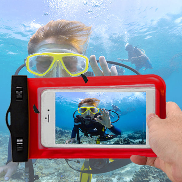 Waterproof Phone Case,Universal Underwater PVC Cellphone Dry Bag Pouch for iPhone X/8 Plus/8/7/6 Samsung Note 8/S8+/S8 Xiaomi