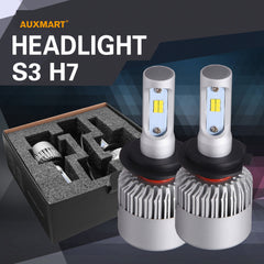 Auxmart H7 72W LED Headlight Bulb 6500K 8000LM Single beam CSP Fog lamps for Kia Hyundai Fiat Seat Renault Infiniti Citroen Mini