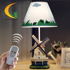 Cartoon creative windmill tanker desk lamp bedroom bedside lamp table lamp minimalist fashion