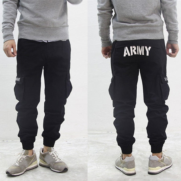 New Hot Sale Black / Navy / Green Mens Designer Jogger Baggy Army Military Cargo Pants Harem Trousers 3 Color