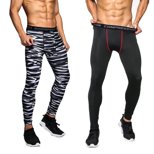2017 New Design Compression Casual Tights Camouflage Bodybuilding Mens High Elasticity Joggers Crossfit Skinny Leggings Free Shipping