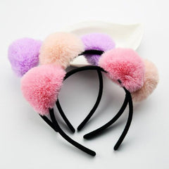2018 New Adults Children Colorful Plush Cat Animal Ear Headband Hairband Panda Ears  Hair Accessory Halloween Party Favor
