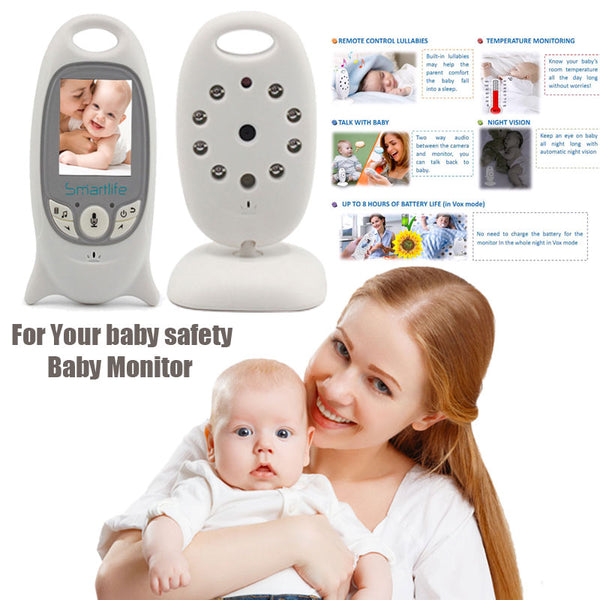 Fimei Wireless Video Baby Monitor 2.0 inch Color Security Camera 2 Way Talk NightVision IR LED Temperature Monitoring