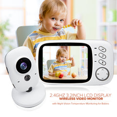 VB603 Baby Monitor 2.4GHz Wireless Baby Sleeping Monitor Temperature Smart Talkie babysitter With 3.2 inch Display Night Vision