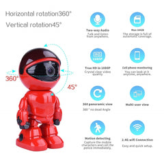 1080P HD Network Camera Two-way Audio Wireless Network Camera Night Vision Motion Detection Camera Robot Pet Baby Monitor