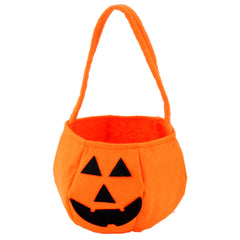 New Arrival Interesting Halloween 2016 Smile Pumpkin Bag Kids Cute Candy Bag for Children