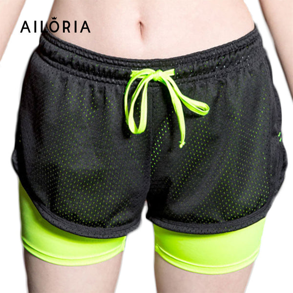 New Summer Fashion Double Lining Women's Casual Printed Cool Short Fitness Practising Shorts