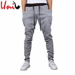 New Autumn/Winter Harem Pure Color Casual Full Trousers Pants for Men Classic Sweatpants Fashion Streetwear Hot Sale