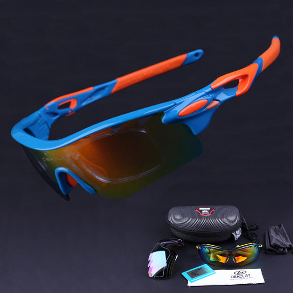 New Men Women Polarized Cycling Eyewear Sunglasses Outdoor Sport Sun glasses Bicycle Bike Goggle Glasses Oculos Ciclismo 5 Lens
