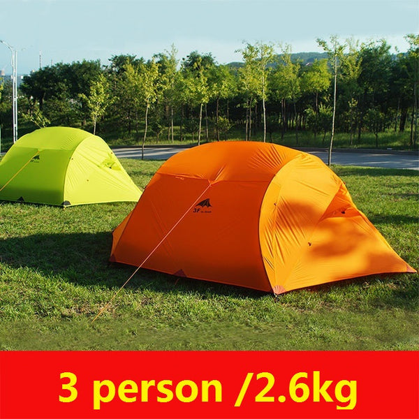 3f ul gear outdoor camping tent 3 person 4 season  ultralight  naturehike family carpas large camping tents china barraca