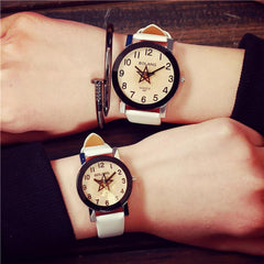 Lovers Watch Women Men Leather Strap Quartz Analog Wrist Watch Watches good present for your love Lovers 17Aug03