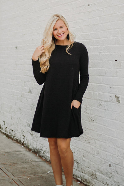 {Last Chance} Kat Shift Dress ~ Black