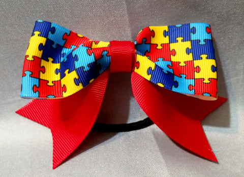 Pony Bow Mini - Autism Awareness