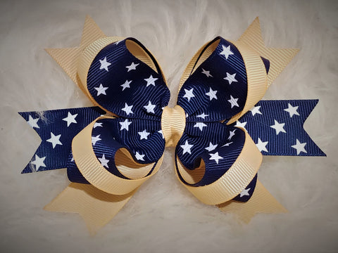 Boutique Stacked Hair Bow - Uniform Bow